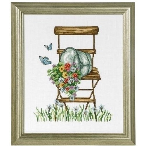 Permin Permin borduurpakket Chair with flowers 92-8104