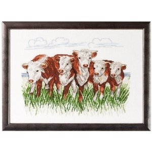 Permin Permin borduurpakket Hereford cows 70-7432