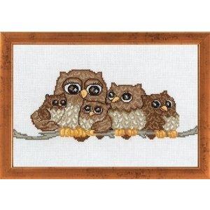 Permin Permin borduurpakket Owl family 92-6324