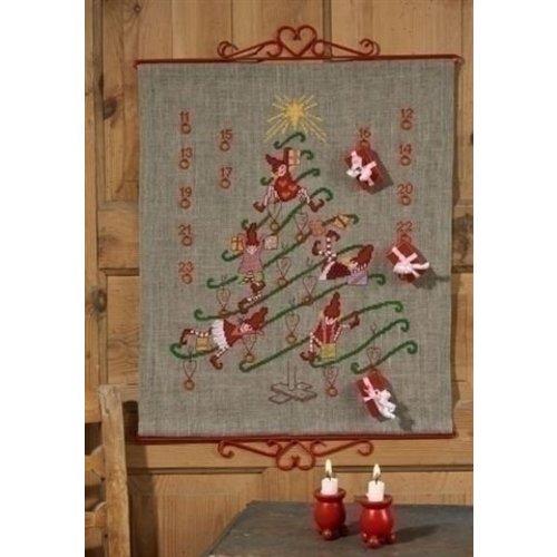 Permin Permin telpakket Adventskalender Kerstboom 34-4243