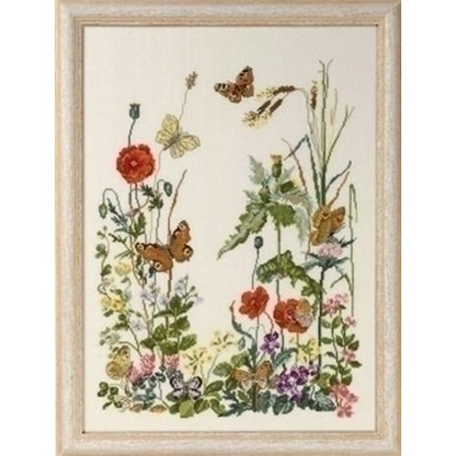 Permin Permin borduurpakket 8 vlinders 70-4151