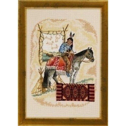 Permin Permin borduurpakket Indiaan te Paard 70 4330