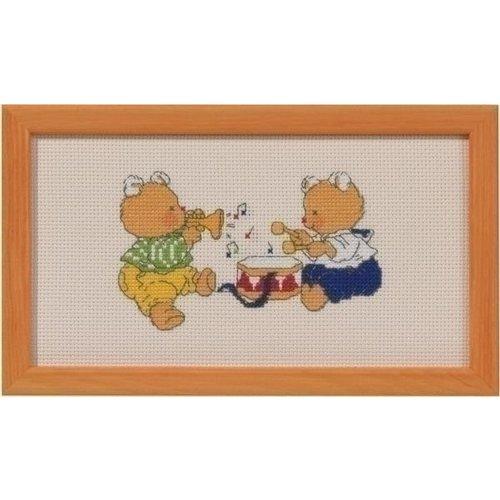 Permin Bobbi beer borduurpakket Muziek 14 2146