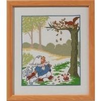 Bobbi beer borduurpakket Herfst 92-3312