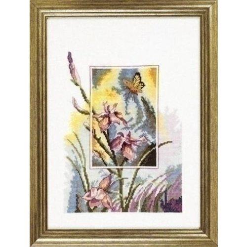Permin Permin borduurpakket Irissen met vlinder 12 3196