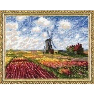Riolis Borduurpakket Tulip Fields ri-1643