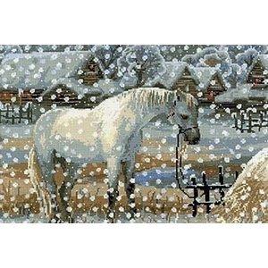 Riolis Riolis borduurpakket paard in de sneeuw 1245