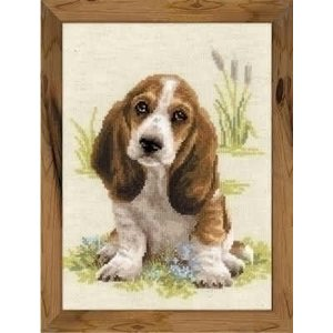 Riolis Riolis borduurpakket Basset hond 1578