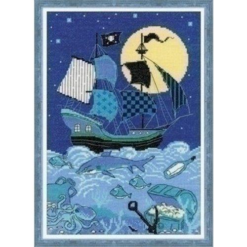 Riolis Riolis borduurpakket Pirate Ship 1511