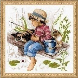Riolis Riolis borduurpakket Let's Go Fishing 1470