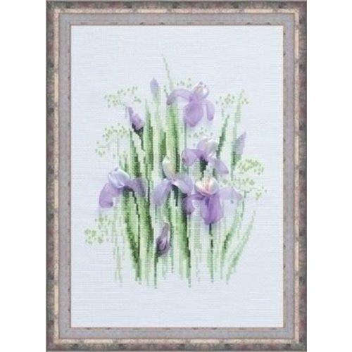 Riolis Riolis borduurpakket Spring Irises 1181