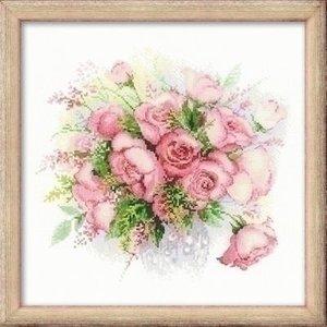Riolis Riolis borduurpakket Watercolor Roses 1335