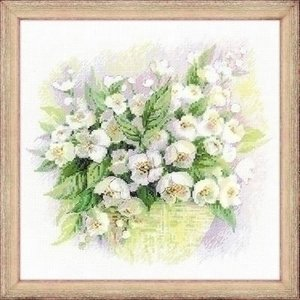 Riolis Riolis borduurpakket Watercolor Jasmine 1467