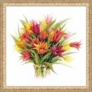 Riolis Riolis borduurpakket Tulips in a Vase 1293