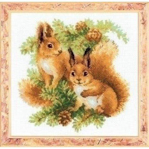 Riolis Riolis borduurpakket Eekhoorntjes 1491