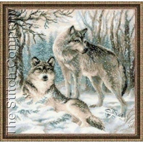Riolis Riolis borduurpakket Pair of Wolves 1393