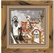 Riolis Riolis borduurpakket The City and Cats -Winter 610