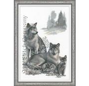 Riolis Riolis borduurpakket wolven 100 021