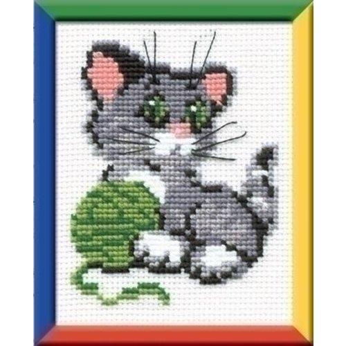 Riolis Borduurpakket Kitty with a Clew ri-0375