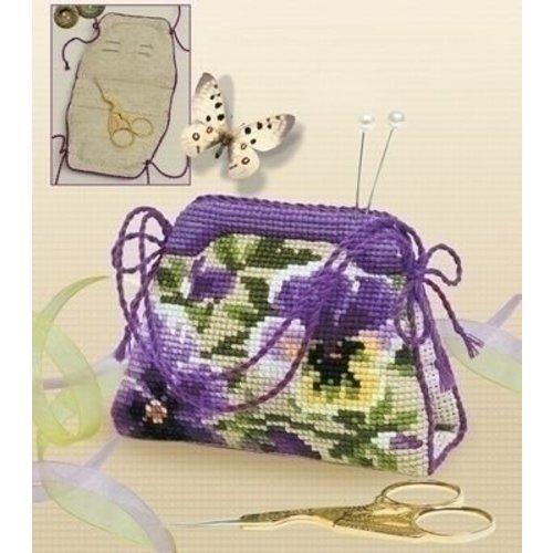 Riolis Riolis Borduurpakket Pansy pincushion, Bag 1039