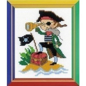 Riolis Riolis borduurpakket Brave Pirate ri-hb164