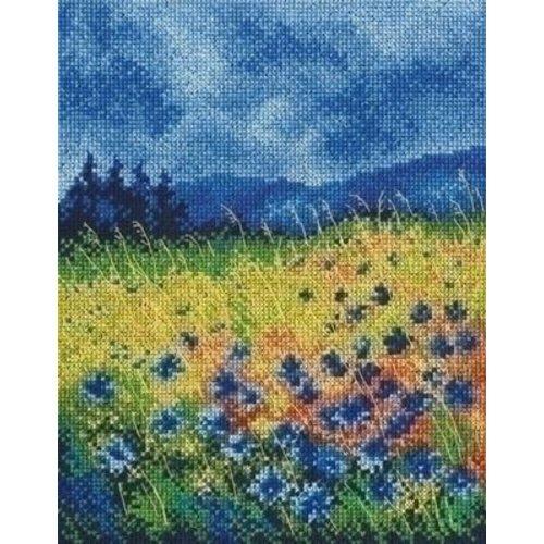 RTO RTO borduurpakket Skyblue Cornflowers m00625