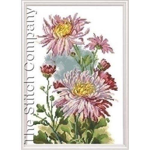 RTO RTO borduurpakket Pink Chrysanthemum 517