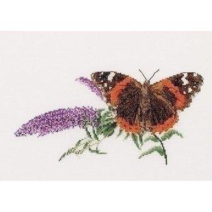 Thea Gouverneur Borduurpakket vlinder Atalanta 436A