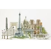 Thea Gouverneur borduurpakket Parijs 472A
