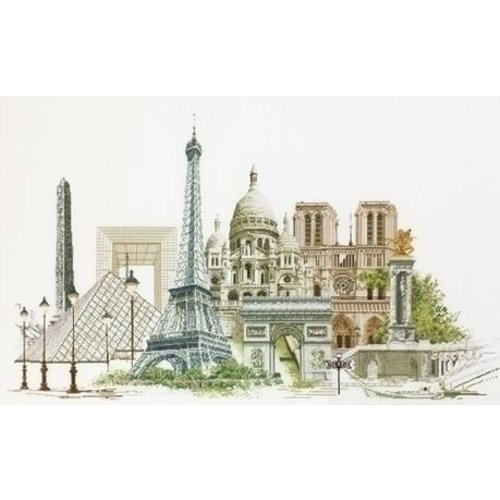 Thea Gouverneur Thea Gouverneur borduurpakket Parijs 472A