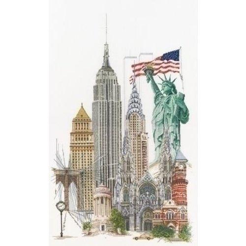 Thea Gouverneur Thea Gouverneur borduurpakket New York 471A