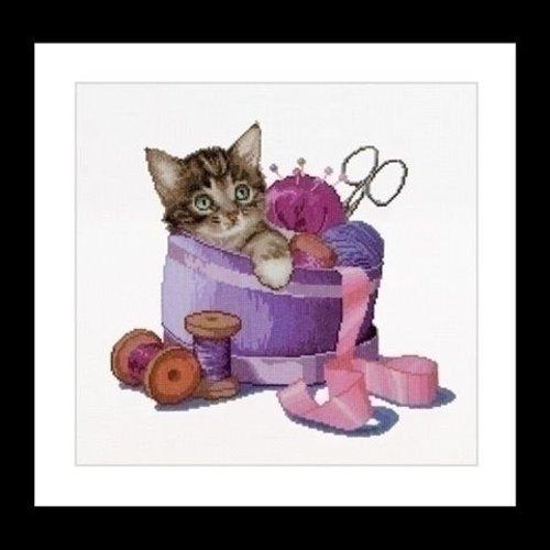 Thea Gouverneur Thea Gouverneur Sewing basket kitten 736A