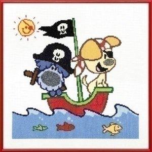 Woezel en Pip Woezel en Pip borduurpakket Piratenschip 271 001