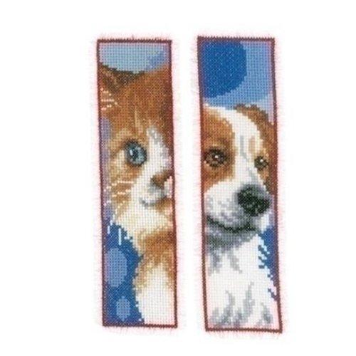 Vervaco Vervaco Bladwijzer Kat en hond 2 stuks 0162195