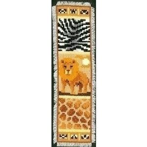 Vervaco Boekenlegger Afrika leeuw, giraf en zebra 0143909