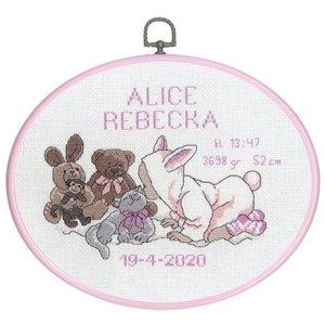Permin Permin Geboortetegel borduurpakket meisje 92-8805