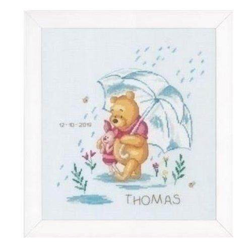 Vervaco Geboortetegel Disney Winnie in de regen 0172703