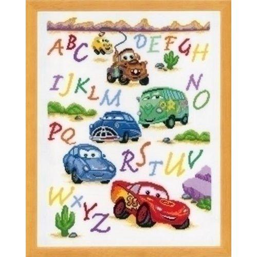 Vervaco Borduurpakket Cars ABC 0014877