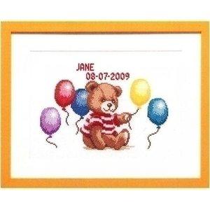 Pako Geboortetegel Beertje met ballonnen 225.295