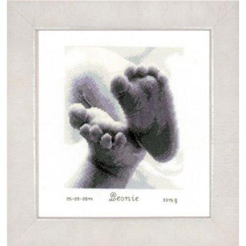 Vervaco Vervaco geboortetegel Babyvoetjes 0149170