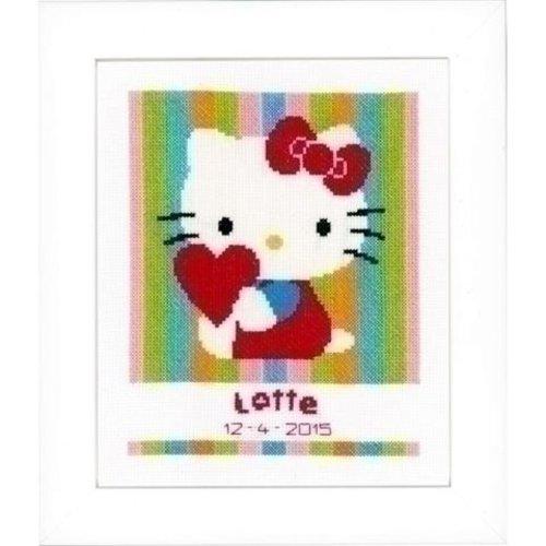 Vervaco Hello Kitty geboortetegel Gestreept 0153807