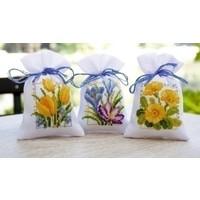 Vervaco geurzakjes Lentebloemen set van 3 0147592