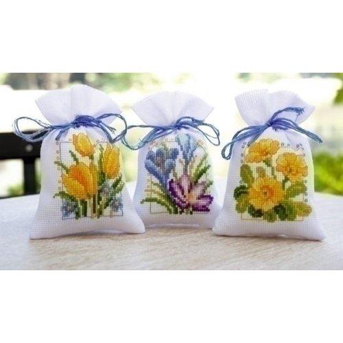 Vervaco Vervaco geurzakjes Lentebloemen set van 3 0147592