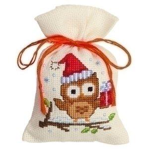 Vervaco Kruidenzakje uil met kerstmuts 0147603