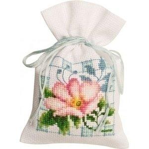 Vervaco Kruidenzakje roze bloemen II 0146544