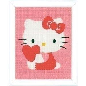 Vervaco Vervaco borduurpakket Hello Kitty met hart 0155324