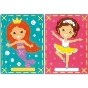 Vervaco Borduurkaarten Ballerina en zeemeermin 0157765