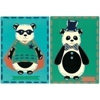 Borduurkaarten Circus panda's 2 st 0157042
