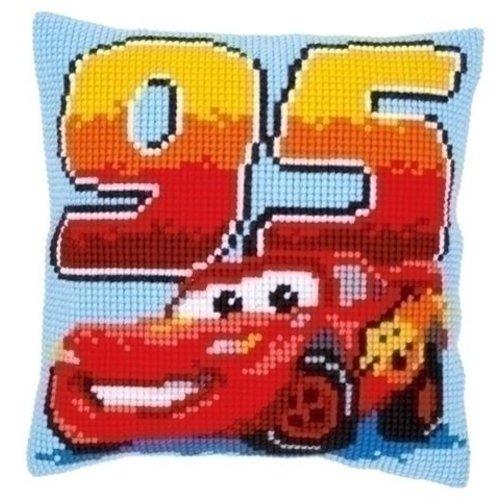 Vervaco Kruissteekkussen Cars Lightning McQueen 0014586