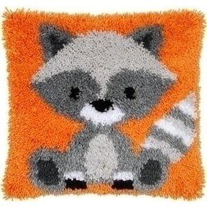 Vervaco Vervaco smyrna knoopkussen wasbeer 0158088